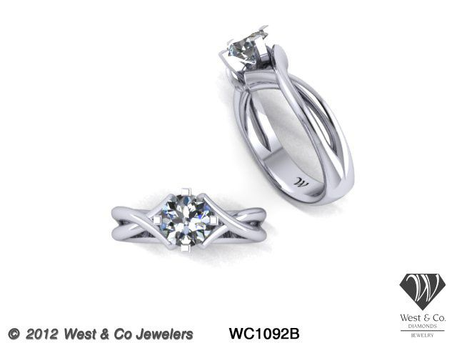 Tmx 1398540487193 Custom 14kt Modern Twist Engagement Rin Webster wedding jewelry