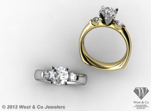 Tmx 1398540499529 Custom 14kt Past Present Future Rin Webster wedding jewelry