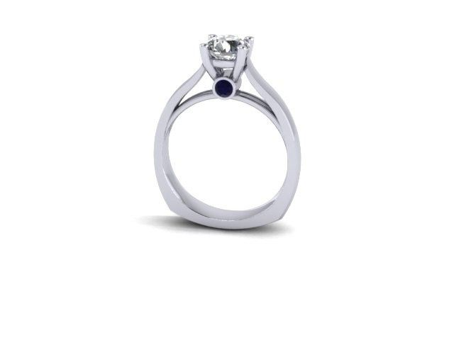 Tmx 1398540502604 Custom 14kt Solitare Engagement Ring With Solitare Webster wedding jewelry