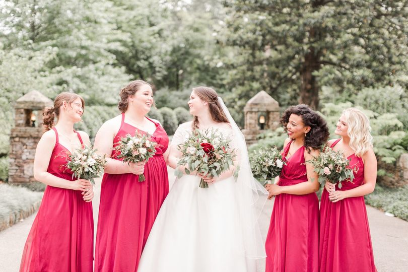 Emily & bridesmaids