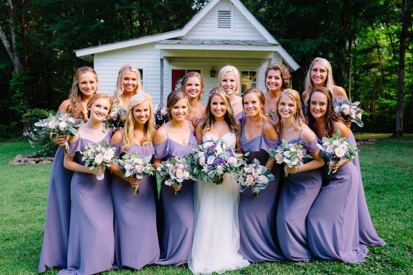 Marlowe & bridesmaids