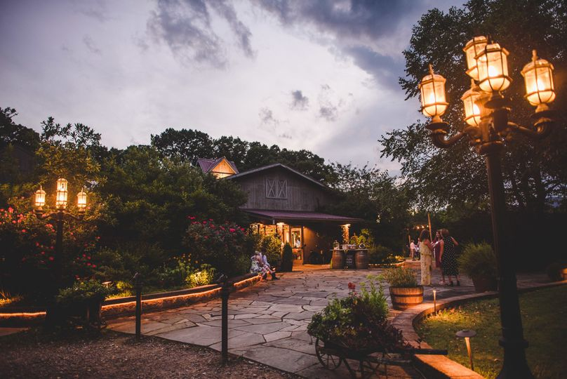 The venue at dusk