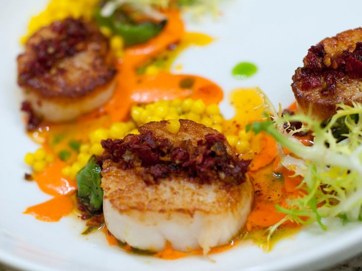 Tmx 1537563211 5cff11d14a841d91 1537563208 6293c7608648195f 1537563209013 20 Food 1   Scallops Candler, North Carolina wedding venue