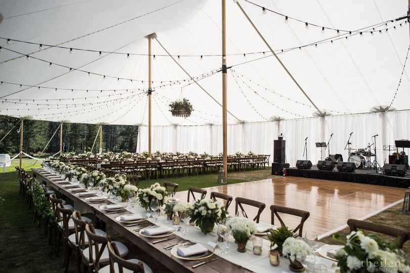 Reception tent and dance floor