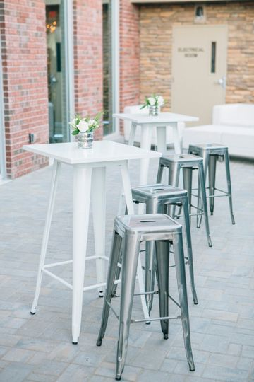 Cocktail tables and barstools