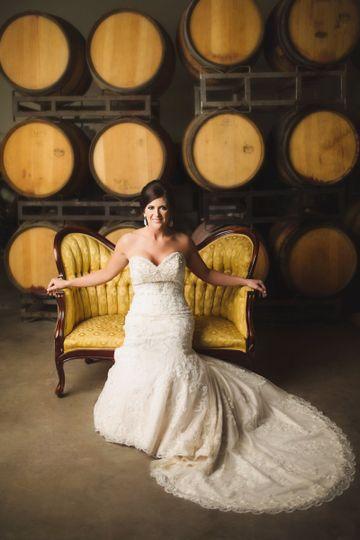 Bride in Barrel Room