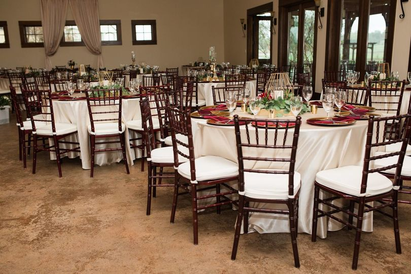 Tables and chairs setup
