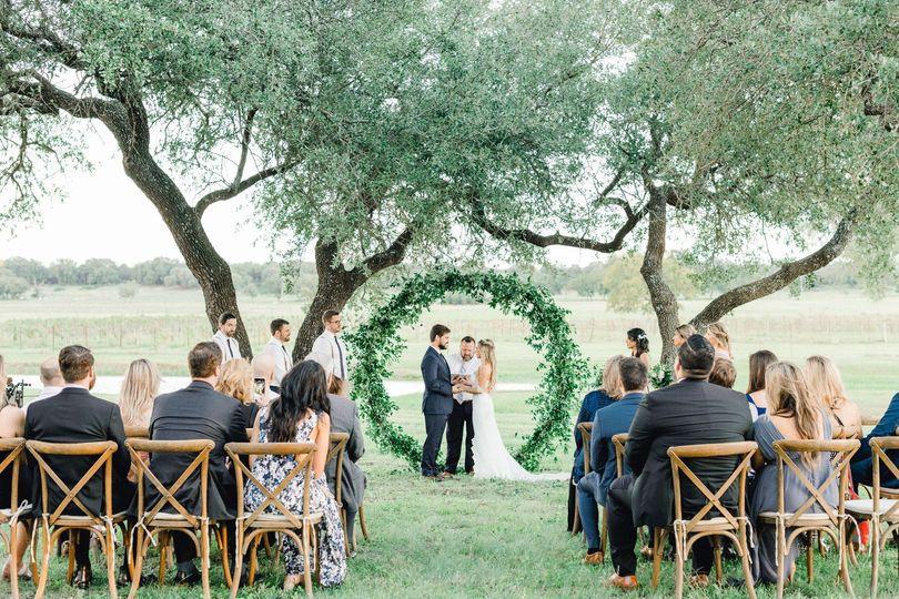 Ceremony overlooking the vines