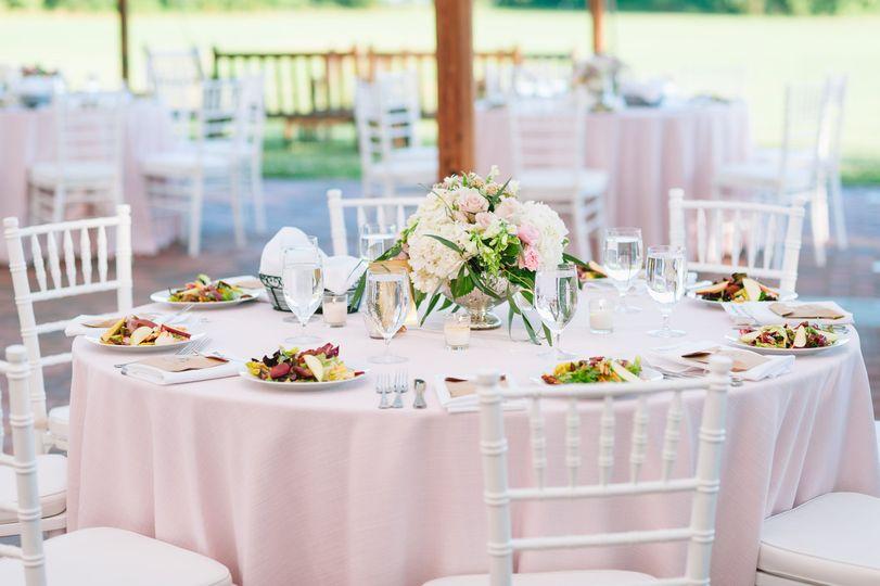 Soft pink table setup