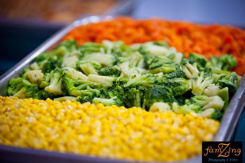 Corn and veggies