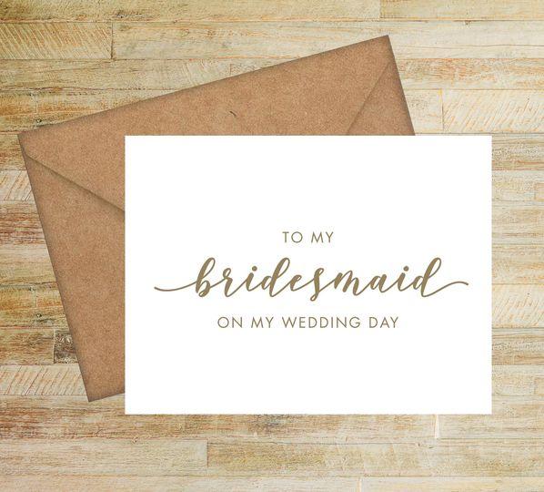 bridesmaid wedding day card 51 58786