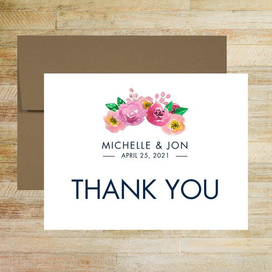 spring floral wedding thank you card 51 58786 160035772721270