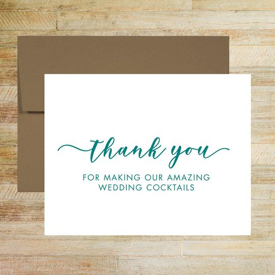 wedding reception bartender thank you card 51 58786 160035772866363