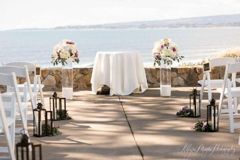 Beach and coastal wedding ceremony