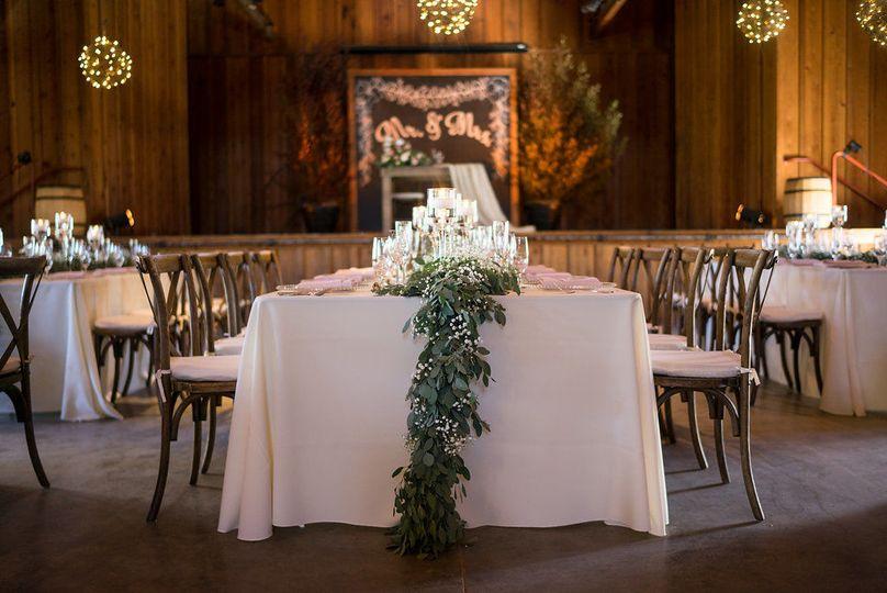 Rustic shabby chic barn wedding reception