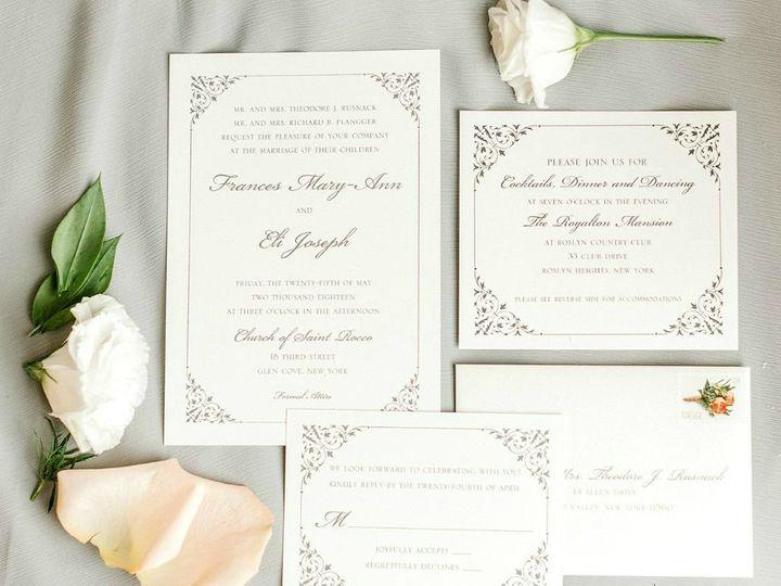 Tmx 1535574925 E086d54f777787e5 1535574925 2b5ee6666dfdbe08 1535574926260 4 Frances And Eli We Old Bethpage, NY wedding invitation