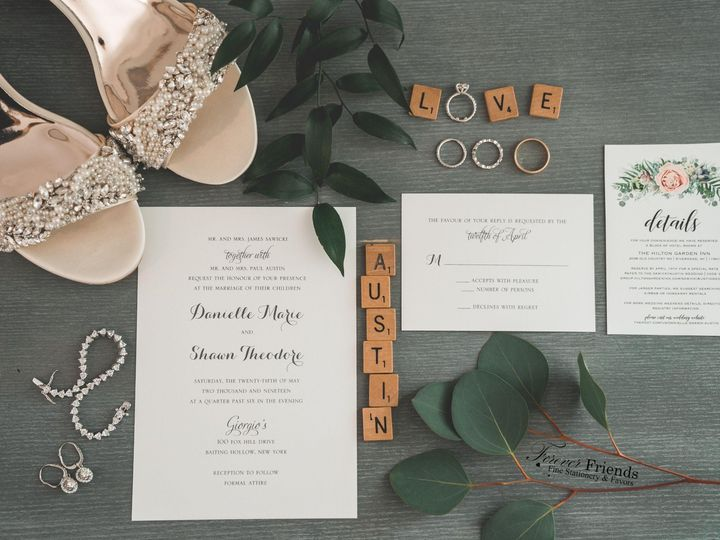 Tmx Danielle And Shawn Invite Pic Use Use 51 151886 1563213425 Old Bethpage, NY wedding invitation