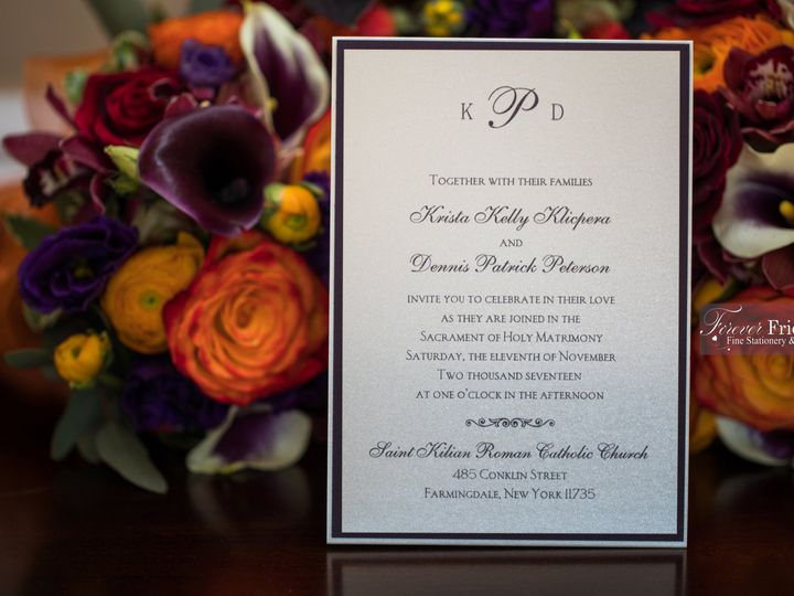 Tmx Krista And Dennis Invite 8 51 151886 Old Bethpage, NY wedding invitation