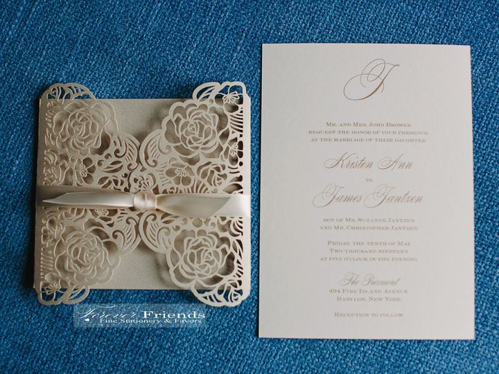 Tmx Kristen And James Invite And Wrap Pic Use 51 151886 158050264599693 Old Bethpage, NY wedding invitation
