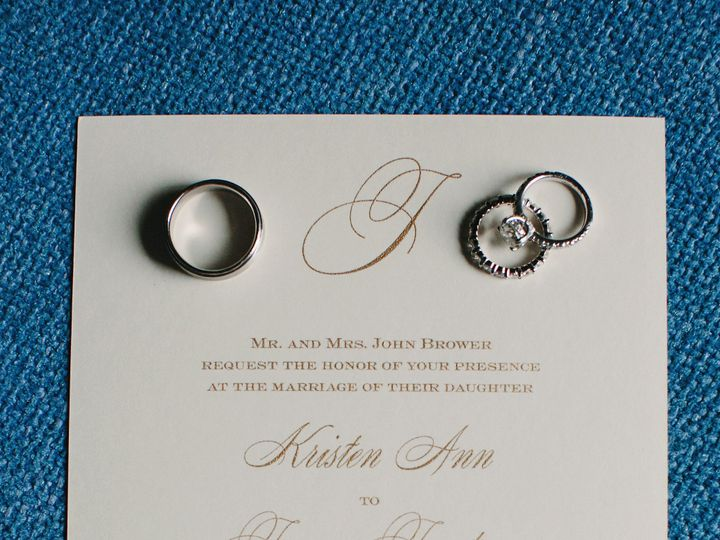 Tmx Kristen And James Invite Rings Pic Use 51 151886 158050264594366 Old Bethpage, NY wedding invitation