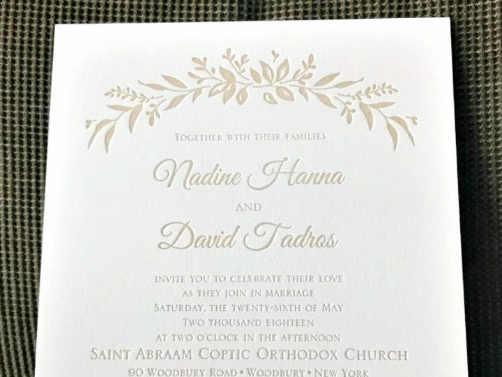 Tmx Nadine And David Flap Invite Letterpress 51 151886 V1 Old Bethpage, NY wedding invitation
