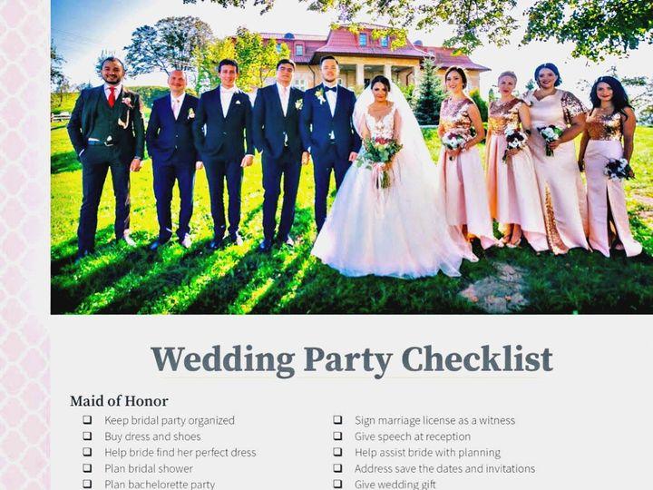Tmx Wedding Party Checklist 2019 Use 51 151886 1560283481 Old Bethpage, NY wedding invitation