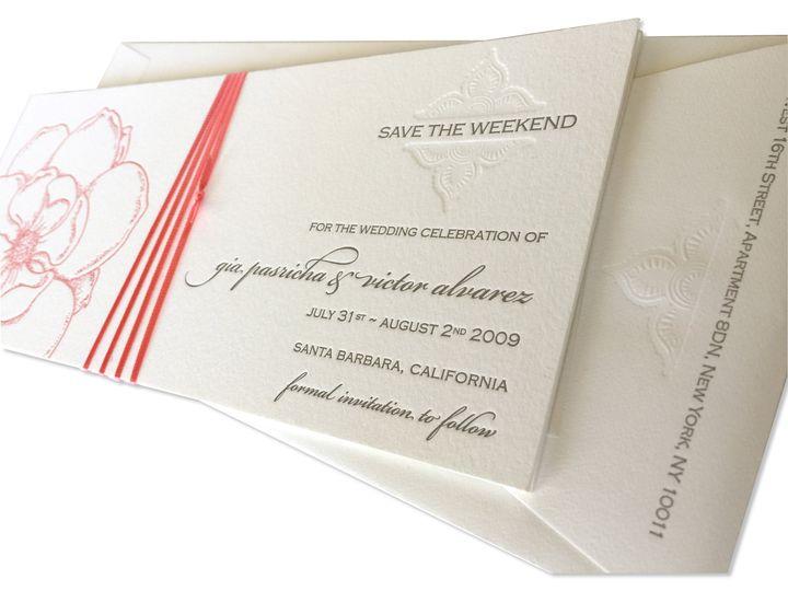 Letterpressed Wedding Invitations