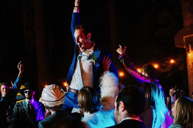 This dude is happy to be married and to hear his favorite song played by Sounds Elevated DJs