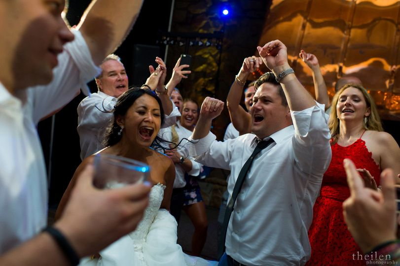 Safe to say this couple had a blast at this Lake Tahoe Wedding Reception. Music by Sounds Elevated....