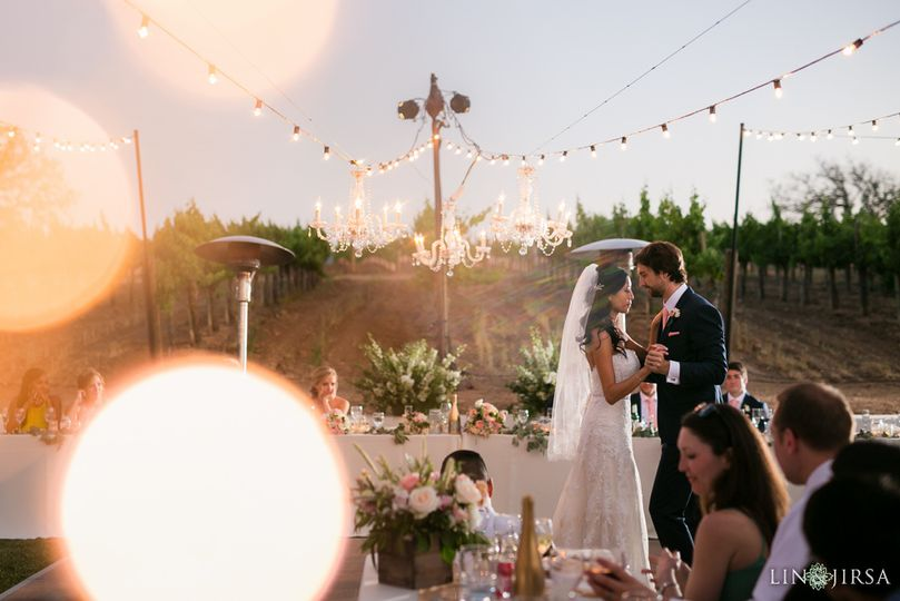 gainey vineyards wedding photography santa ynez dinner setting 51 304886 160339658515914