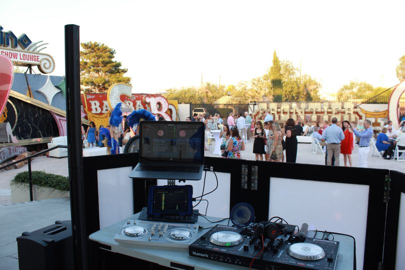 Outdoor DJ booth