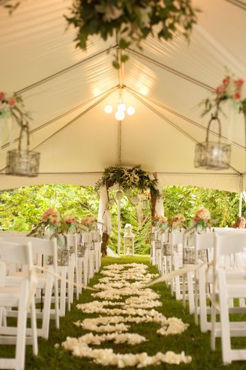 Tent wedding ceremony