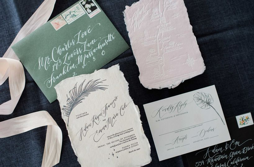 Handmade paper and Letterpress
