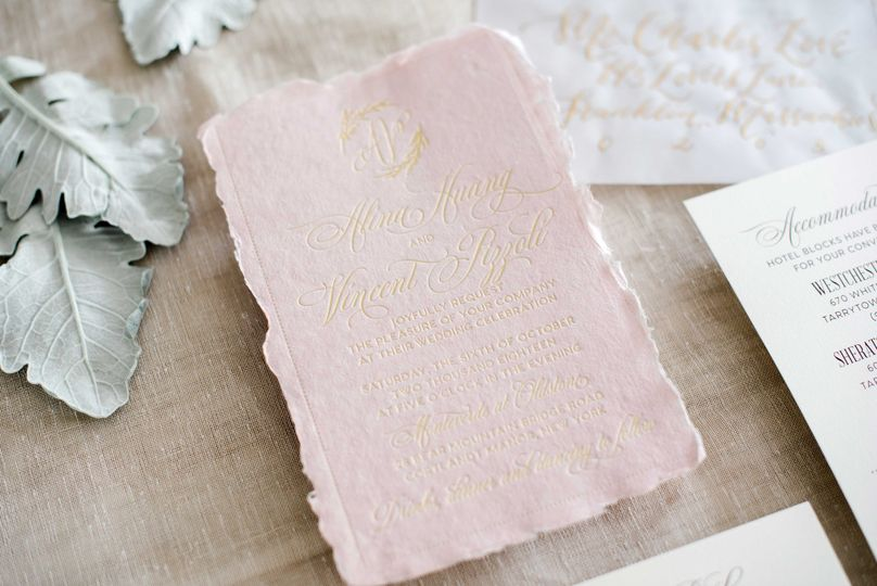 Handmade paper and Gold Foil