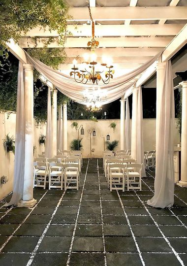 Marquee Manor event Venue Courtyard Savannah Georgia