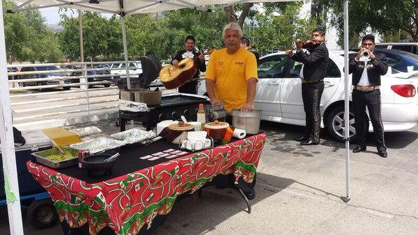 La Taquiza Catering buffet area
