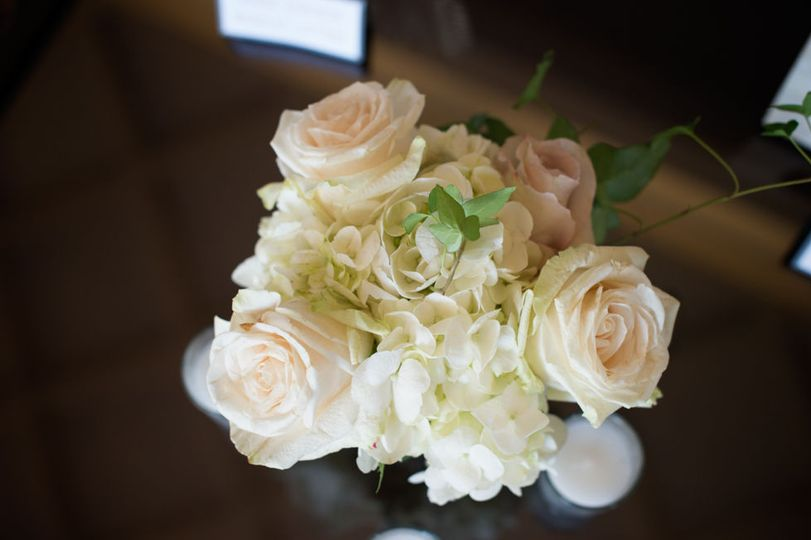 Bouquet White and Peach