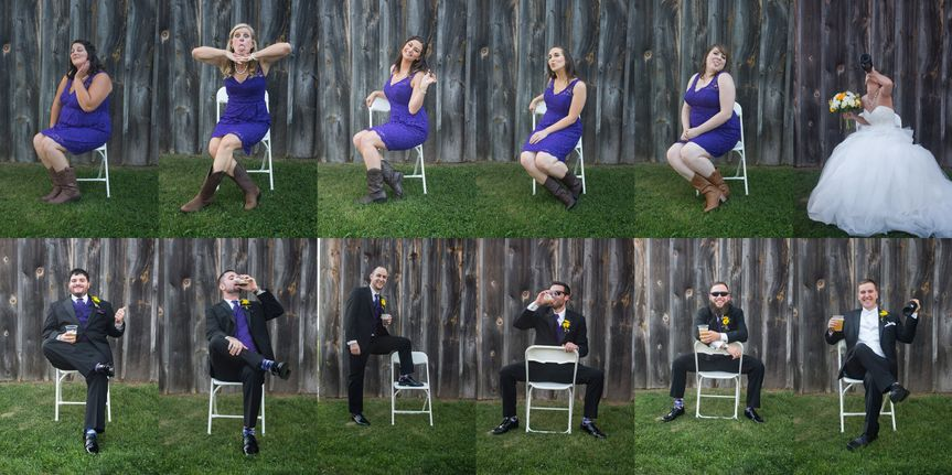 Wedding party personality shots