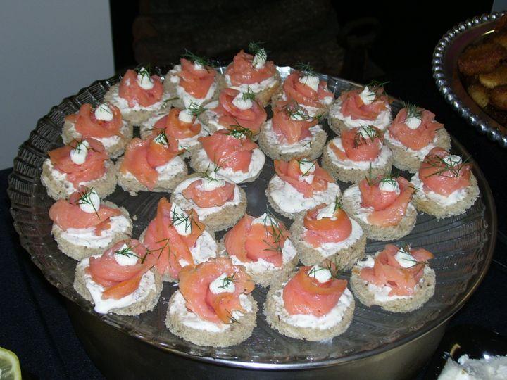 Tmx 1446742838525 Smoked Salmon Rounds Winston Salem, NC wedding catering
