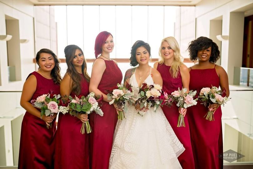 Marcella and blush wedding bouquets