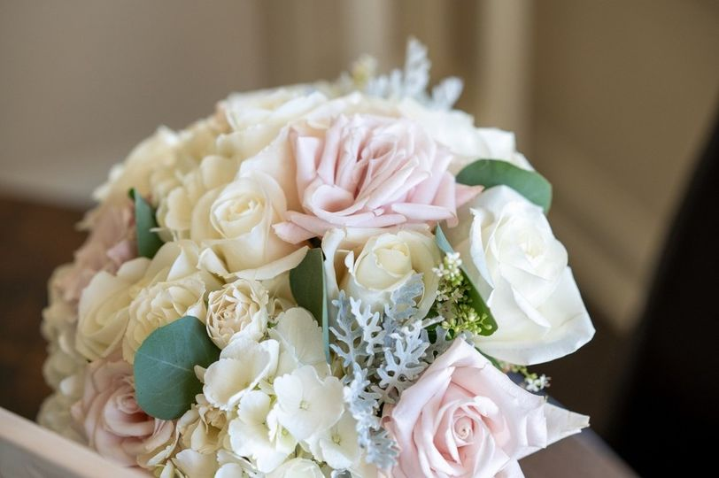Blush and Ivory Bride Bouquet