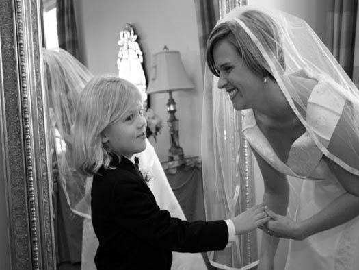Bride with ring bearer.