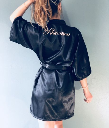 Every Bridal Party Needs Customized Robes!  Comes in: White, Black, Pink, Blush, Purple, Navy Blue,...