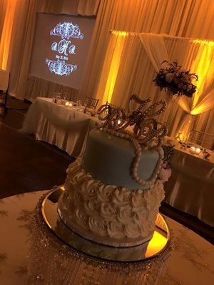 2 layered wedding cake