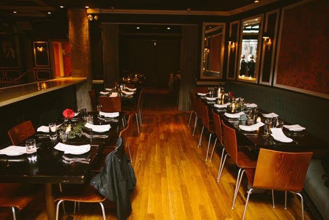 Semi-private dinner in bays