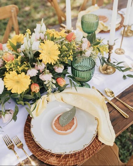 Spring Citrus Table