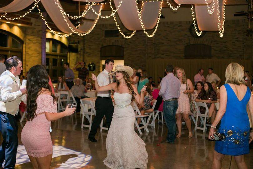 Bride being fun