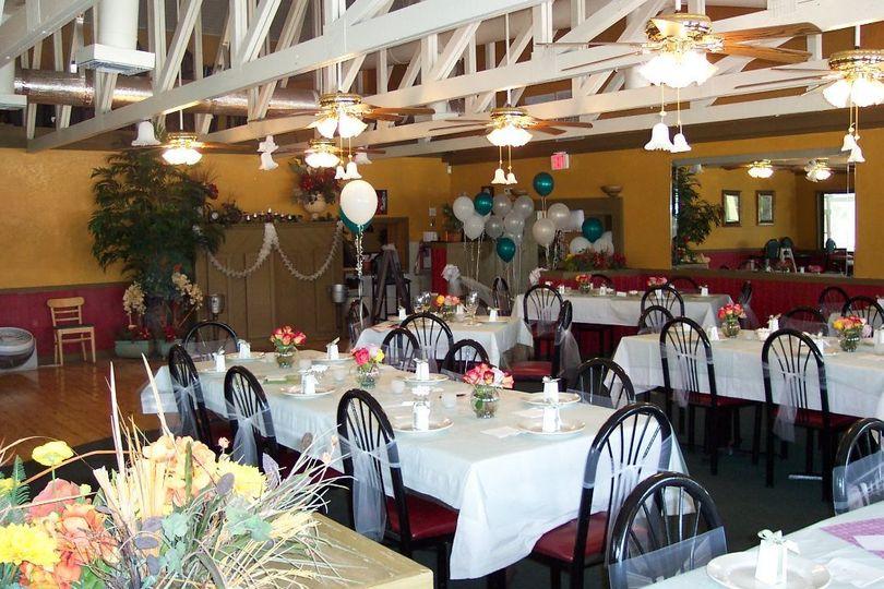 Wedding reception space
