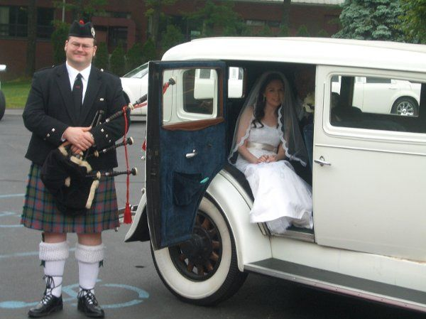 Antique wedding cars Irish wedding