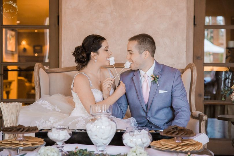 Desert bar at the reception was smores! So cute and fun! Provided by Smoregousboard in Arizona